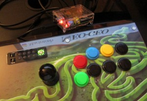 the Razer Atrox connected to Raspberry Pi running RetroPie